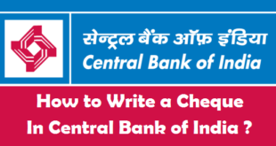 How to Write a Cheque in Central Bank of India