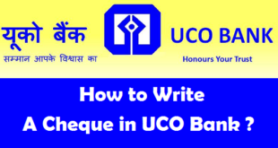 How to Write a Cheque in UCO Bank