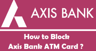 How to Block Axis Bank ATM Card