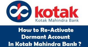 How to Reactivate Dormant Account in Kotak Mahindra Bank