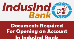 Documents Required for Opening an Account in IndusInd Bank