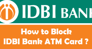 How to Block IDBI Bank ATM Card