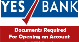 Documents Required for Opening an Account in YES Bank