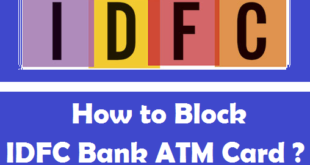 How to Block IDFC Bank ATM Card