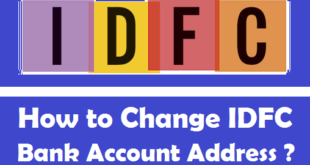 How to Change IDFC Bank Account Address