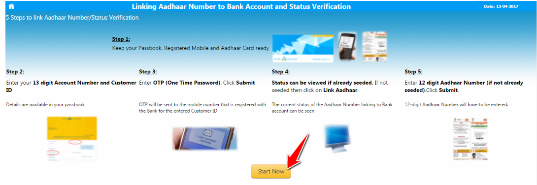 Steps to Link Aadhaar Number in Canara Bank Account