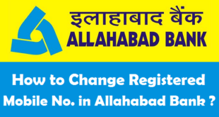 How to Change Registered Mobile Number in Allahabad Bank