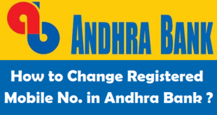 How to Change Registered Mobile Number in Andhra Bank