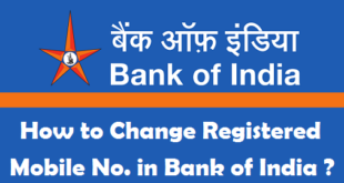 How to Change Registered Mobile Number in Bank of India