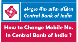 How to Change Registered Mobile Number in Central Bank of India