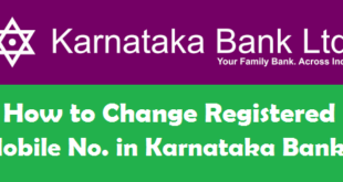 How to Change Registered Mobile Number in Karnataka Bank