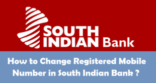 How to Change Registered Mobile Number in South Indian Bank