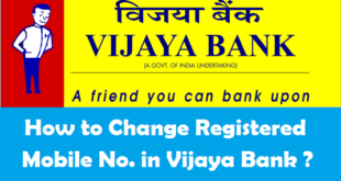 How to Change Registered Mobile Number in Vijaya Bank