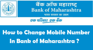 How to Change Registered Mobile Number in Bank of Maharashtra