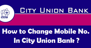 How to Change Registered Mobile Number in City Union Bank