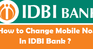 How to Change Registered Mobile Number in IDBI Bank
