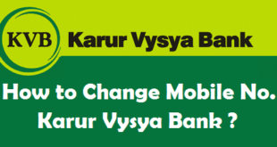 How to Change Registered Mobile Number in Karur Vysya Bank