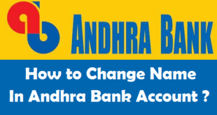 How to Change Name in Andhra Bank Account