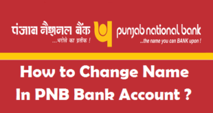 How to Change Name in PNB Bank Account