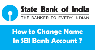 How to Change Name in SBI Bank Account