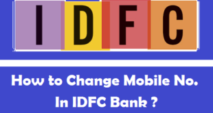 How to Change Registered Mobile Number in IDFC Bank