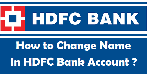 change name in bank account