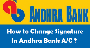 How to Change Signature in Andhra Bank Account