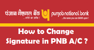 How to Change Signature in PNB Account