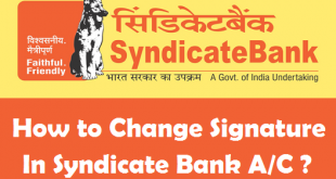 How to Change Signature in Syndicate Bank Account